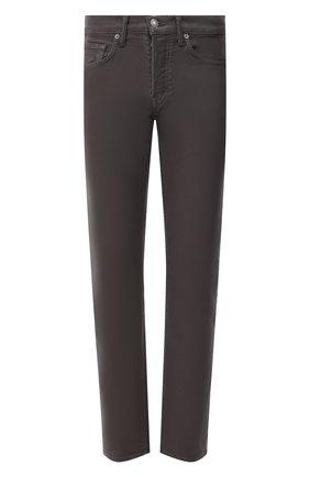 Мужские джинсы TOM FORD темно-серого цвета, арт. BYJ28/TFD002   Фото 1 (Материал внешний: Хлопок; Длина (брюки, джинсы): Стандартные; Стили: Кэжуэл; Кросс-КТ: Деним; Силуэт М (брюки): Прямые)