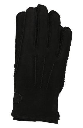 Мужские замшевые перчатки BRIONI черного цвета, арт. 05SI0L/09727 | Фото 1 (Мужское Кросс-КТ: Кожа и замша)
