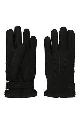 Мужские замшевые перчатки BRIONI черного цвета, арт. 05SI0L/09727 | Фото 2 (Мужское Кросс-КТ: Кожа и замша)
