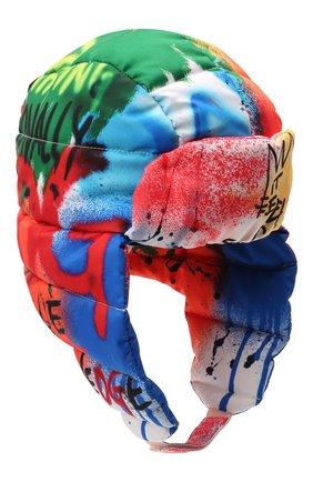 Детского утепленная шапка DOLCE & GABBANA разноцветного цвета, арт. LB5H00/G7BCR | Фото 1 (Материал: Синтетический материал, Текстиль)