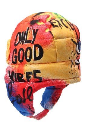 Детского утепленная шапка DOLCE & GABBANA разноцветного цвета, арт. LB5H00/G7BCR | Фото 2 (Материал: Синтетический материал, Текстиль)