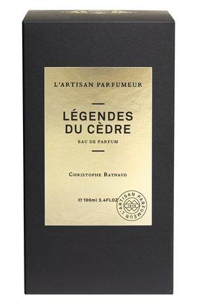 Парфюмерная вода légendes du cèdre L'ARTISAN PARFUMEUR бесцветного цвета, арт. 3660463004860 | Фото 2 (Ограничения доставки: fragile)