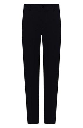 Мужские брюки BOGNER темно-синего цвета, арт. 18043337 | Фото 1 (Материал внешний: Шерсть, Синтетический материал; Случай: Повседневный; Стили: Классический; Длина (брюки, джинсы): Стандартные)