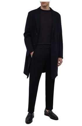Мужские брюки BOGNER темно-синего цвета, арт. 18043337 | Фото 2 (Материал внешний: Шерсть, Синтетический материал; Случай: Повседневный; Стили: Классический; Длина (брюки, джинсы): Стандартные)