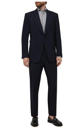 Мужская хлопковая сорочка LUIGI BORRELLI серого цвета, арт. SR1103/FELICE/ST/EV/PC | Фото 2 (Материал внешний: Хлопок; Случай: Формальный; Рукава: Длинные; Принт: Полоска; Стили: Классический; Рубашки М: Super Slim Fit; Манжеты: На пуговицах; Воротник: Акула)