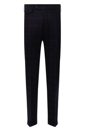 Мужские шерстяные брюки ANDREA CAMPAGNA темно-синего цвета, арт. VULCAN0Z/VB1456 | Фото 1 (Материал подклада: Синтетический материал; Материал внешний: Шерсть; Случай: Повседневный; Стили: Классический; Длина (брюки, джинсы): Стандартные)
