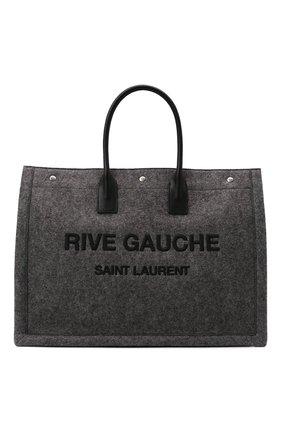 Мужская текстильная сумка-шопер rive gauche SAINT LAURENT серого цвета, арт. 509415/24N4E | Фото 1 (Материал: Текстиль)