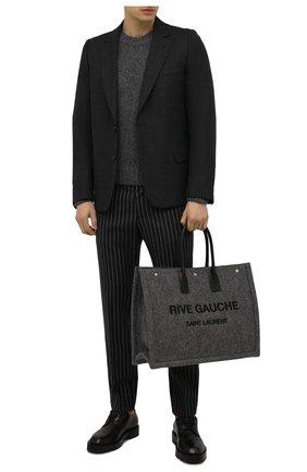 Мужская текстильная сумка-шопер rive gauche SAINT LAURENT серого цвета, арт. 509415/24N4E | Фото 2 (Материал: Текстиль)
