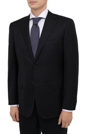 Мужской шерстяной костюм CORNELIANI темно-синего цвета, арт. 887315-1817214/92 Q1 | Фото 2 (Материал внешний: Шерсть; Материал подклада: Купро; Костюмы М: Однобортный; Стили: Классический)