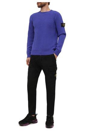 Мужской шерстяной свитер STONE ISLAND синего цвета, арт. 7515505A3 | Фото 2 (Материал внешний: Шерсть; Мужское Кросс-КТ: Свитер-одежда; Принт: Без принта; Стили: Кэжуэл; Длина (для топов): Стандартные; Рукава: Длинные)