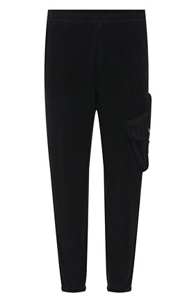 Мужские хлопковые джоггеры STONE ISLAND темно-синего цвета, арт. 751530811 | Фото 1 (Материал внешний: Хлопок; Силуэт М (брюки): Джоггеры; Стили: Милитари; Длина (брюки, джинсы): Стандартные)