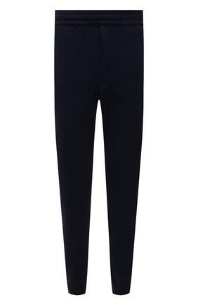 Мужские хлопковые джоггеры BRIONI темно-синего цвета, арт. UJDJ0L/01637 | Фото 1 (Материал внешний: Хлопок; Длина (брюки, джинсы): Стандартные; Силуэт М (брюки): Джоггеры; Стили: Спорт-шик; Кросс-КТ: Спорт; Мужское Кросс-КТ: Брюки-трикотаж)