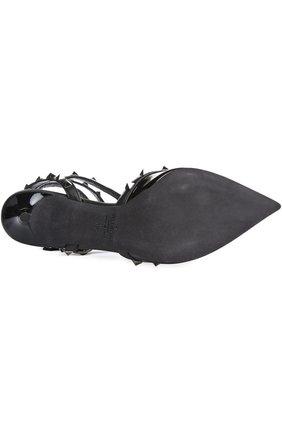 Лаковые туфли Valentino Garavani Rockstud Noir на шпильке   Фото №5