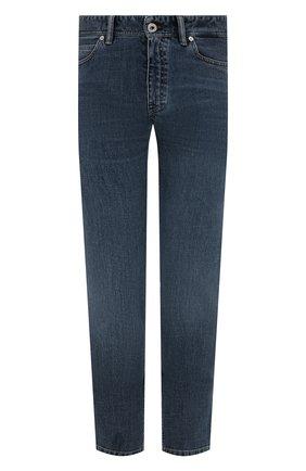 Мужские джинсы BRIONI синего цвета, арт. SPPB0M/P0D04/MERIBEL   Фото 1 (Материал внешний: Хлопок; Длина (брюки, джинсы): Стандартные; Кросс-КТ: Деним; Силуэт М (брюки): Прямые; Стили: Кэжуэл)
