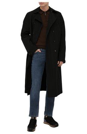 Мужские джинсы BRIONI синего цвета, арт. SPPB0M/P0D04/MERIBEL   Фото 2 (Материал внешний: Хлопок; Длина (брюки, джинсы): Стандартные; Кросс-КТ: Деним; Силуэт М (брюки): Прямые; Стили: Кэжуэл)