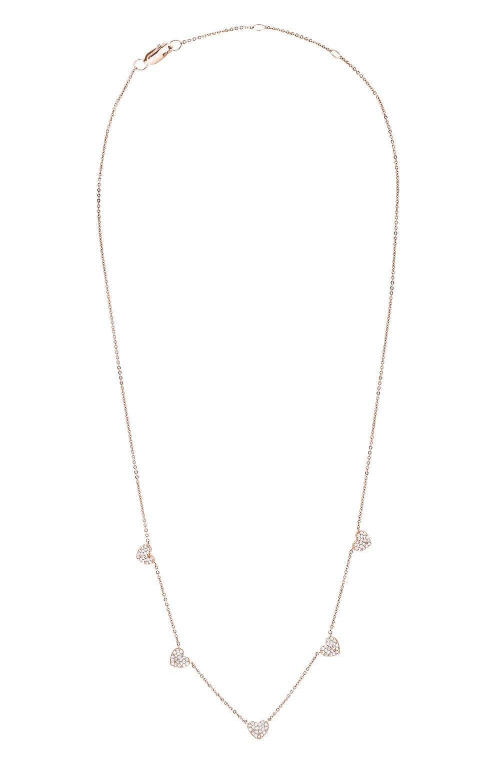 Женское колье J-POINT золотого цвета, арт. ИПГ857.47.220621.14P   Фото 1 (Материал: Золото)