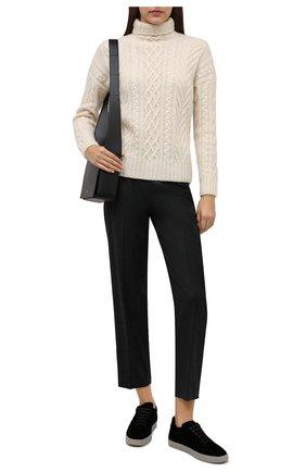 Женские текстильные кеды yuki GIORGIO ARMANI черного цвета, арт. X1X026/XD115 | Фото 2 (Материал внутренний: Натуральная кожа, Текстиль; Материал внешний: Текстиль; Подошва: Плоская, Платформа)