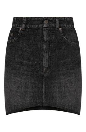 Женская джинсовая юбка BALENCIAGA серого цвета, арт. 675236/TJW78 | Фото 1 (Материал внешний: Хлопок; Длина Ж (юбки, платья, шорты): Мини; Стили: Гламурный; Кросс-КТ: Деним; Женское Кросс-КТ: Юбка-одежда)