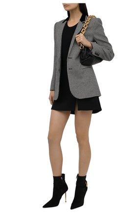 Женские замшевые ботильоны TOM FORD черного цвета, арт. W2959T-LCL071 | Фото 2 (Материал внутренний: Натуральная кожа; Подошва: Плоская; Каблук высота: Высокий; Каблук тип: Шпилька; Материал внешний: Замша)
