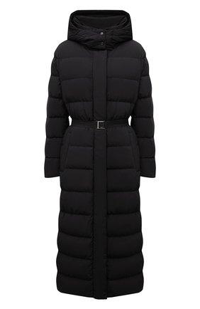 Женская пуховая куртка ADD черного цвета, арт. 4AW629 | Фото 1 (Рукава: Длинные; Длина (верхняя одежда): Длинные; Материал внешний: Синтетический материал; Материал подклада: Синтетический материал; Материал утеплителя: Пух и перо; Стили: Кэжуэл; Женское Кросс-КТ: Пуховик-куртка)