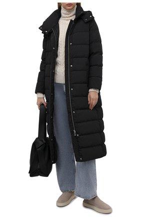 Женская пуховая куртка ADD черного цвета, арт. 4AW629 | Фото 2 (Рукава: Длинные; Длина (верхняя одежда): Длинные; Материал внешний: Синтетический материал; Материал подклада: Синтетический материал; Материал утеплителя: Пух и перо; Стили: Кэжуэл; Женское Кросс-КТ: Пуховик-куртка)