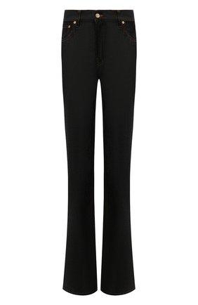 Женские джинсы JACQUEMUS темно-синего цвета, арт. 213DE001-1400   Фото 1 (Материал внешний: Хлопок; Длина (брюки, джинсы): Стандартные; Стили: Минимализм; Кросс-КТ: Деним; Силуэт Ж (брюки и джинсы): Расклешенные)