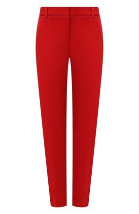 Женские шерстяные брюки BURBERRY красного цвета, арт. 8046752   Фото 1 (Материал внешний: Шерсть; Материал подклада: Купро; Длина (брюки, джинсы): Стандартные; Стили: Гламурный; Женское Кросс-КТ: Брюки-одежда; Силуэт Ж (брюки и джинсы): Узкие)