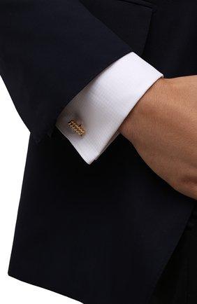 Мужские запонки LANVIN золотого цвета, арт. 9022/9 | Фото 2 (Стили: Классический)