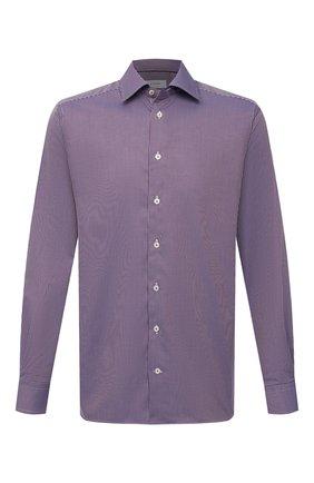 Мужская хлопковая сорочка ETON бордового цвета, арт. 1000 02419 | Фото 1 (Материал внешний: Хлопок; Рукава: Длинные; Длина (для топов): Стандартные; Случай: Формальный; Стили: Классический; Рубашки М: Regular Fit; Манжеты: На пуговицах; Принт: Клетка; Воротник: Кент)