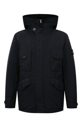 Мужская пуховая куртка STONE ISLAND темно-синего цвета, арт. 751541649 | Фото 1 (Материал внешний: Синтетический материал; Материал утеплителя: Пух и перо; Материал подклада: Синтетический материал; Кросс-КТ: Куртка; Длина (верхняя одежда): Короткие; Рукава: Длинные; Мужское Кросс-КТ: пуховик-короткий; Стили: Кэжуэл)