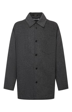 Мужская шерстяная куртка ACNE STUDIOS серого цвета, арт. B90549 | Фото 1 (Материал подклада: Синтетический материал; Материал внешний: Шерсть; Кросс-КТ: Куртка; Длина (верхняя одежда): До середины бедра; Рукава: Длинные; Мужское Кросс-КТ: шерсть и кашемир; Стили: Минимализм)