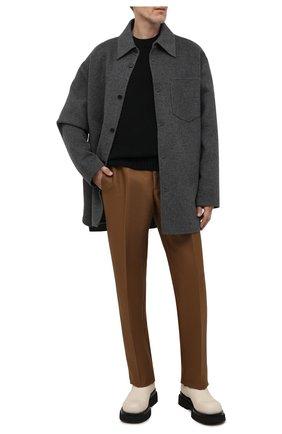 Мужская шерстяная куртка ACNE STUDIOS серого цвета, арт. B90549 | Фото 2 (Материал подклада: Синтетический материал; Материал внешний: Шерсть; Кросс-КТ: Куртка; Длина (верхняя одежда): До середины бедра; Рукава: Длинные; Мужское Кросс-КТ: шерсть и кашемир; Стили: Минимализм)