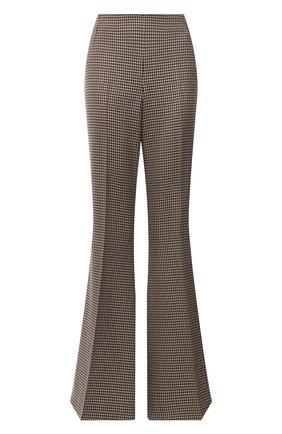 Женские шерстяные брюки STELLA MCCARTNEY коричневого цвета, арт. 604142/SSA37 | Фото 1 (Материал внешний: Шерсть; Длина (брюки, джинсы): Удлиненные; Женское Кросс-КТ: Брюки-одежда; Силуэт Ж (брюки и джинсы): Расклешенные; Стили: Кэжуэл)