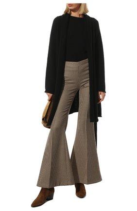 Женские шерстяные брюки STELLA MCCARTNEY коричневого цвета, арт. 604142/SSA37 | Фото 2 (Материал внешний: Шерсть; Длина (брюки, джинсы): Удлиненные; Женское Кросс-КТ: Брюки-одежда; Силуэт Ж (брюки и джинсы): Расклешенные; Стили: Кэжуэл)