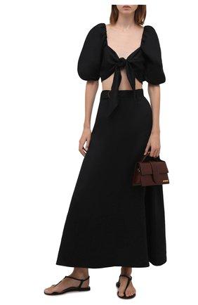 Женская льняная юбка FAITHFULL THE BRAND черного цвета, арт. FF1671-BLK   Фото 2 (Женское Кросс-КТ: Юбка-пляжная одежда, Юбка-одежда; Материал внешний: Лен; Длина Ж (юбки, платья, шорты): Макси; Материал подклада: Вискоза; Стили: Бохо)
