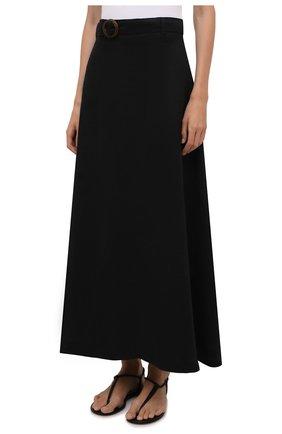 Женская льняная юбка FAITHFULL THE BRAND черного цвета, арт. FF1671-BLK   Фото 3 (Женское Кросс-КТ: Юбка-пляжная одежда, Юбка-одежда; Материал внешний: Лен; Длина Ж (юбки, платья, шорты): Макси; Материал подклада: Вискоза; Стили: Бохо)