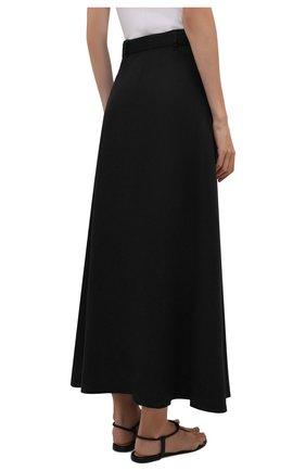 Женская льняная юбка FAITHFULL THE BRAND черного цвета, арт. FF1671-BLK   Фото 4 (Женское Кросс-КТ: Юбка-пляжная одежда, Юбка-одежда; Материал внешний: Лен; Длина Ж (юбки, платья, шорты): Макси; Материал подклада: Вискоза; Стили: Бохо)