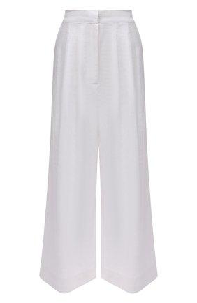 Женские льняные брюки FAITHFULL THE BRAND белого цвета, арт. FF1960-WHT   Фото 1 (Длина (брюки, джинсы): Стандартные; Материал внешний: Лен; Женское Кросс-КТ: Брюки-одежда, Брюки-пляжная одежда; Силуэт Ж (брюки и джинсы): Широкие; Стили: Бохо)