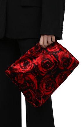 Женский клатч DRIES VAN NOTEN красного цвета, арт. 212-011511-703 | Фото 2 (Размер: medium; Материал: Текстиль; Женское Кросс-КТ: Клатч-клатчи)