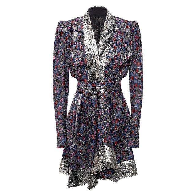 Платье с отделкой пайетками Isabel Marant