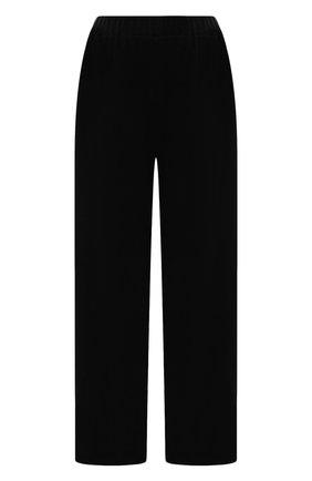 Женские брюки THE ROW черного цвета, арт. 5848K386   Фото 1 (Длина (брюки, джинсы): Стандартные; Материал внешний: Растительное волокно; Женское Кросс-КТ: Брюки-одежда; Стили: Кэжуэл; Силуэт Ж (брюки и джинсы): Широкие)