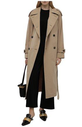 Женские брюки THE ROW черного цвета, арт. 5848K386   Фото 2 (Длина (брюки, джинсы): Стандартные; Материал внешний: Растительное волокно; Женское Кросс-КТ: Брюки-одежда; Стили: Кэжуэл; Силуэт Ж (брюки и джинсы): Широкие)