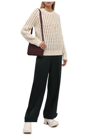 Женские кожаные сабо wedge BOTTEGA VENETA белого цвета, арт. 667212/V1000 | Фото 2 (Материал внутренний: Натуральная кожа; Каблук тип: Устойчивый; Подошва: Платформа; Каблук высота: Высокий)