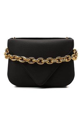 Женская сумка mount medium BOTTEGA VENETA темно-коричневого цвета, арт. 667398/V12M0 | Фото 1 (Материал: Натуральная кожа; Сумки-технические: Сумки через плечо; Размер: medium; Ремень/цепочка: На ремешке)