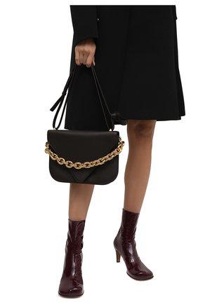 Женская сумка mount medium BOTTEGA VENETA темно-коричневого цвета, арт. 667398/V12M0 | Фото 2 (Материал: Натуральная кожа; Сумки-технические: Сумки через плечо; Размер: medium; Ремень/цепочка: На ремешке)