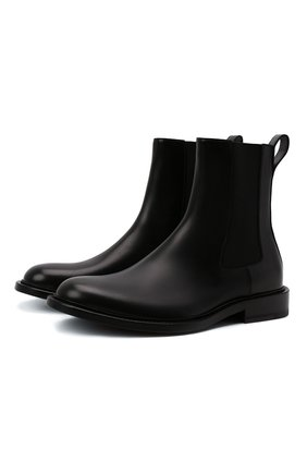 Мужские кожаные челси level BOTTEGA VENETA черного цвета, арт. 652357/V10T0 | Фото 1 (Подошва: Плоская; Материал внутренний: Натуральная кожа; Мужское Кросс-КТ: Сапоги-обувь, Челси-обувь)