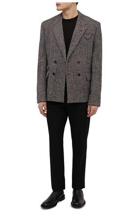 Мужские кожаные челси level BOTTEGA VENETA черного цвета, арт. 652357/V10T0 | Фото 2 (Подошва: Плоская; Материал внутренний: Натуральная кожа; Мужское Кросс-КТ: Сапоги-обувь, Челси-обувь)