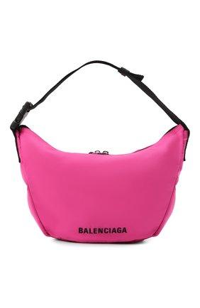 Женская сумка wheel BALENCIAGA розового цвета, арт. 655009/H859X | Фото 1 (Материал: Текстиль; Размер: large; Сумки-технические: Сумки top-handle)
