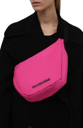 Женская сумка wheel BALENCIAGA розового цвета, арт. 655009/H859X | Фото 2 (Материал: Текстиль; Размер: large; Сумки-технические: Сумки top-handle)
