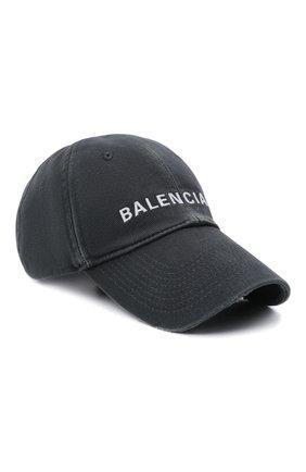 Мужской хлопковая бейсболка BALENCIAGA серого цвета, арт. 673319/410B2   Фото 1 (Материал: Текстиль, Хлопок)